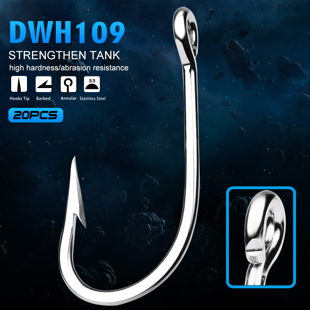 100pcs Barbarian Jig Big Fishing Hook 7150 fishhook Saltwater Bass Size 1//0-5//0