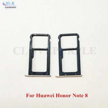 10PCS/Lot Gold SIM Card Tray Holder Slot Adapter For Huawei Honor Note 8 Note8 Replacement Parts