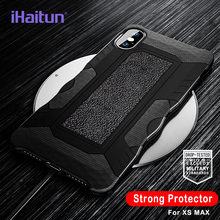 iHaitun Luxury Shock Proof Armor Case For iPhone XS MAX XR X Cases Military Protector Phone 7 8 Plus Back Cover