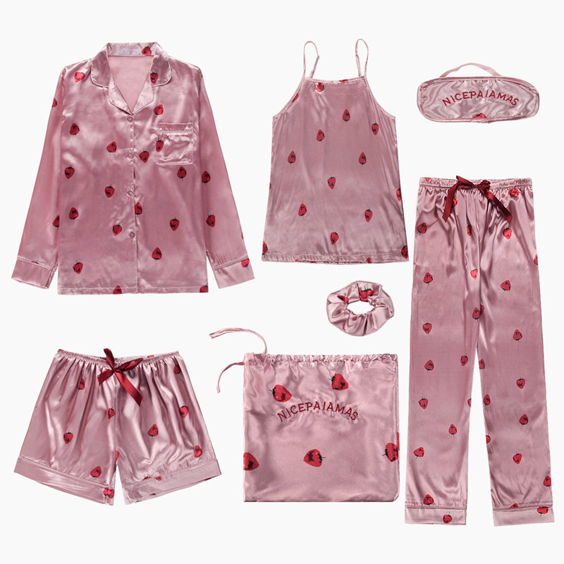 Nouveau Printemps Automne Femmes Pyjama Set Cartoon sleepwear Tops /& Pantalon NIGHTWEAR SET