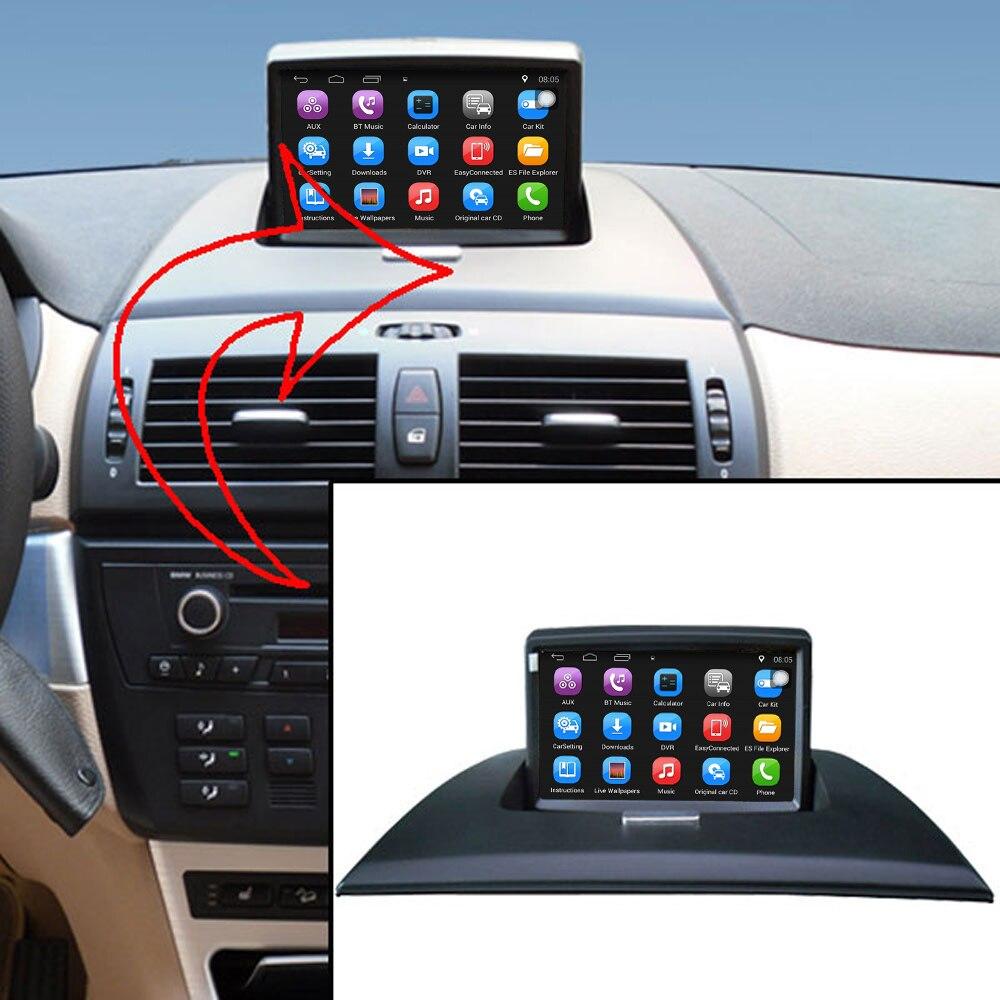 Lecteur multimédia de voiture Android 7.1 Original amélioré voiture GPS Navigation costume à BMW X3 E83 2004-2009 Support WiFi