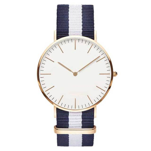 Fashion England trend simple canvas nylon strap watches fashion female student Q