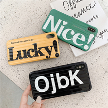 Simple Brand English Alphabet Phone Cover Case For Iphone X Xs Max Xr 10 8 7 6 6s Plus Luxury Couple Soft Silicone Coque Fundas