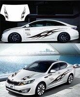 Whole Car Body Waist Line Decorated Sticker For Kia K2 K3 K5 Z2CA787