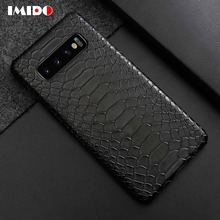 Luxury Snake Skin Leather Phone Case For Samsung Galaxy S10E S10 S9 Plus Note9 Note8 PU Back Cover Coque