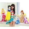 65cm Princess Snow White Cinderella Ariel Belle Rapunzel Aurora Plush Doll Toys Great Gift For Girls