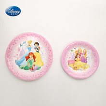Princess Theme Plate Children Festival Party Supplies Baby Shower Decoration 6pcs/lot Paper Party Plates Supplies 6pcs festival party supplies christmas tree hanging stars decoration