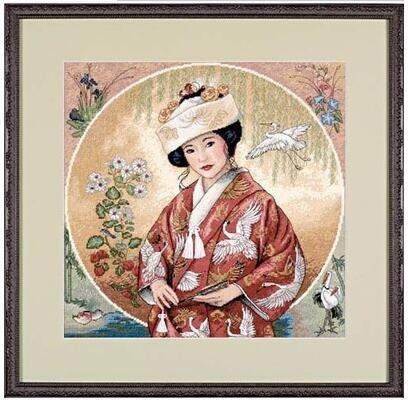 cs-1849 Cross Stitch Kit Japanese Maiden Girl Woman Lady dim 35109