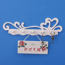 Wooden Hook Flower Fashion Peg Wooden White Coat Hook Keys Hang Clothes Wall Hanging Home Decor