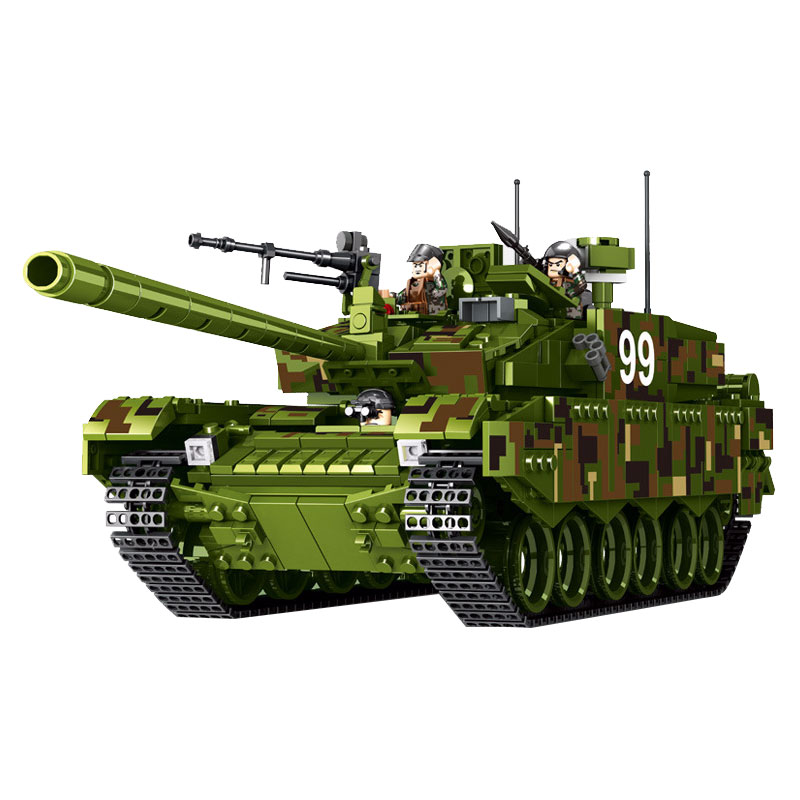 Intellective Type 99 Main Battle Tank World Military Building Blocks Toys For Children Figures Compatible Legoing Military 1339pcs High Safety Toys & Hobbies