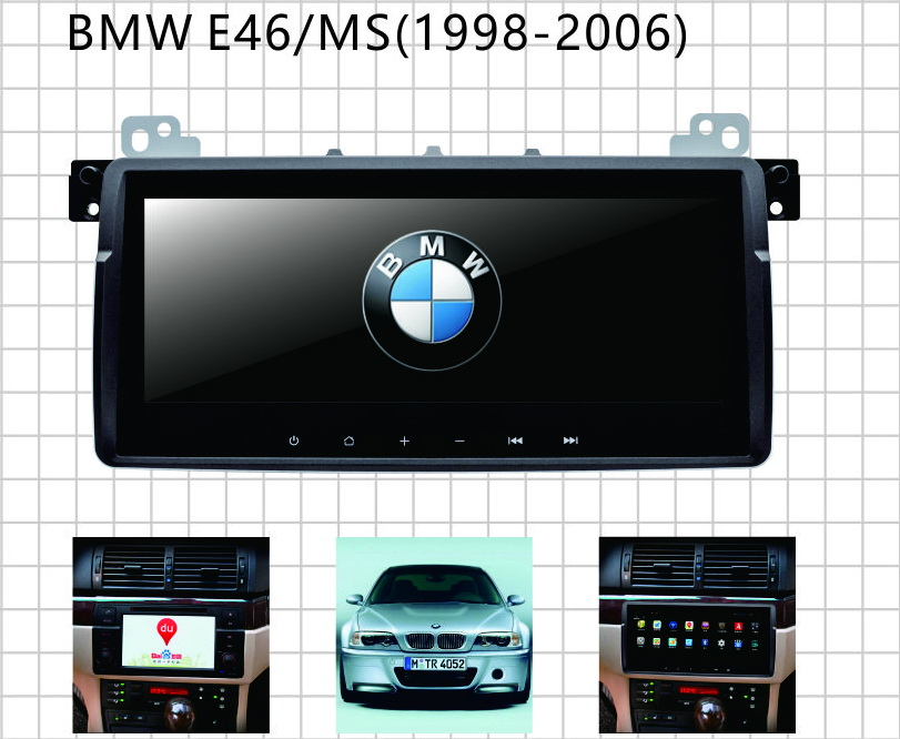 andorid touch screen car video gps for BMW E46 with wifi 3G RDS