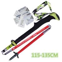 0021 Pioneer Mountain Staff 80 Carbon Fiber Folding Carbon Stick Super Light Outdoor Equipment Red