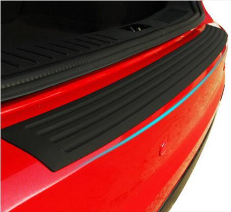 Car Styling Rubber Rear Guard Bumper Protect Trim Cover Pad Scuff Sill Protector Scuff For Skoda Octavia A7 Fabia Superb B6 Yeti