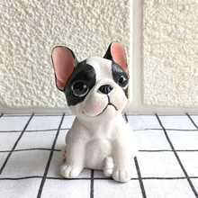Personalit Resin Mini French Bulldog Decoration Car Accessories