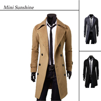 Fashion Long Woolen Coats Men Double Breasted Jacket High Quality Overcoats Winter Warm Business German Gothic Clothing z30