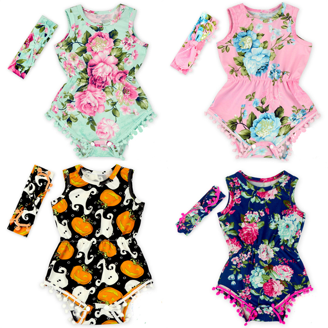 740f983d5e7a Aliexpress.com   Buy 2Pcs Headband+Bodysuits Fashion Baby Girl ...