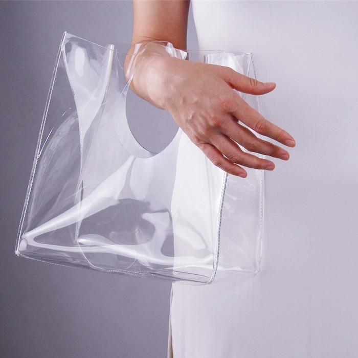Women Handbag Transparent Bag Plastic Shopping Bag Large