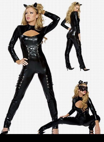 Women Cat Costume Hallween Carnival Party Cosplay Body Suits