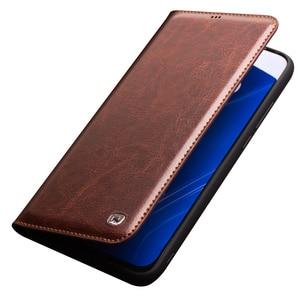 Image 5 - QIALINO funda de teléfono de cuero genuino hecha a mano para Huawei Honor V20, funda ultradelgada con ranura para tarjetas, Honor View 20
