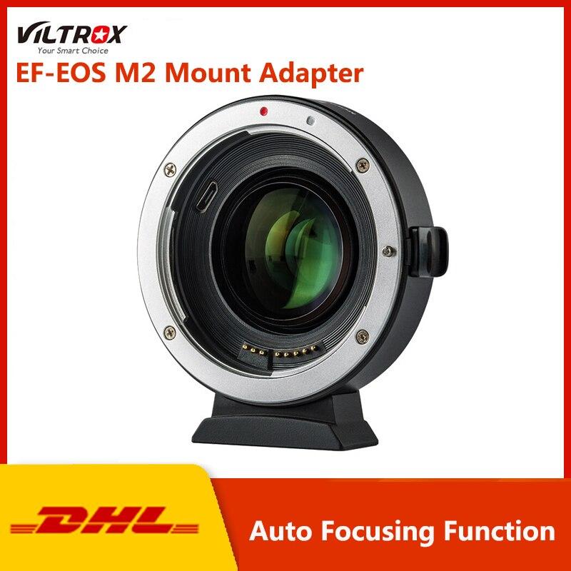 Viltrox EF-EOS M2 Mount Adapter pour Canon EF Série Lentilles pour Canon EF lens pour EOS M5 M6 M50 Caméra accessoires Lentille Adaptateur