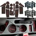 16 Unids Anti Antideslizante Para Ford Ecosport 13-16 Accesorios Palabras LOGO en Etiquetas Engomadas Del Coche Taza Ranura Puerta Estera Ranura Puerta Pad Car-Styling