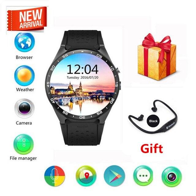 Android 5.1 kw88 Smart Watch Phone MTK6580 quad core 1.3 ГГЦ ROM 4 ГБ + RAM 512 МБ 1.39 дюймов 400*400 Экран с 2.0MP камера