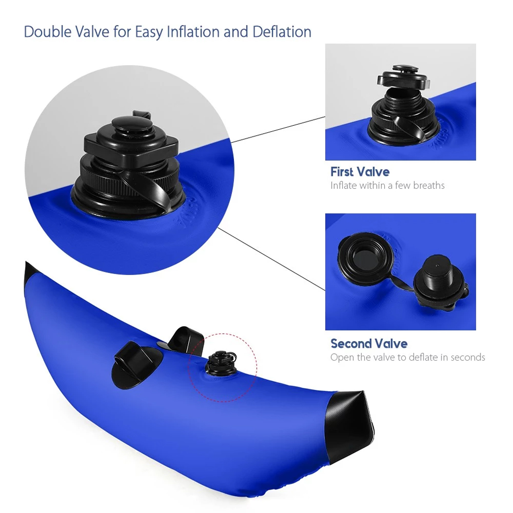 Perfeclan Set 2pcs PVC Inflatable Kayak Canoe Fishing Standing Outrigger Stabilizer Water Sports Rowing Boats Accessories