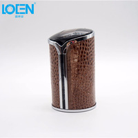 Universal 1PC Tree Pattern Style Cup Holder Car Ashtray Cigarette Cylinder Portable Car Accessories Brown Soot