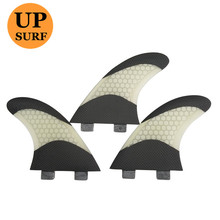 Pranchas de Surf FCS G5/G7 Fins White and Black Fiberglass Honeycomb in Surfing