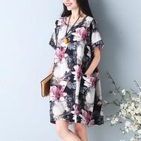 Women Summer Dress 2018 ZANZEA Retro Floral Print Short Sleeve Loose Casual Vestido Maxi Boho Robe
