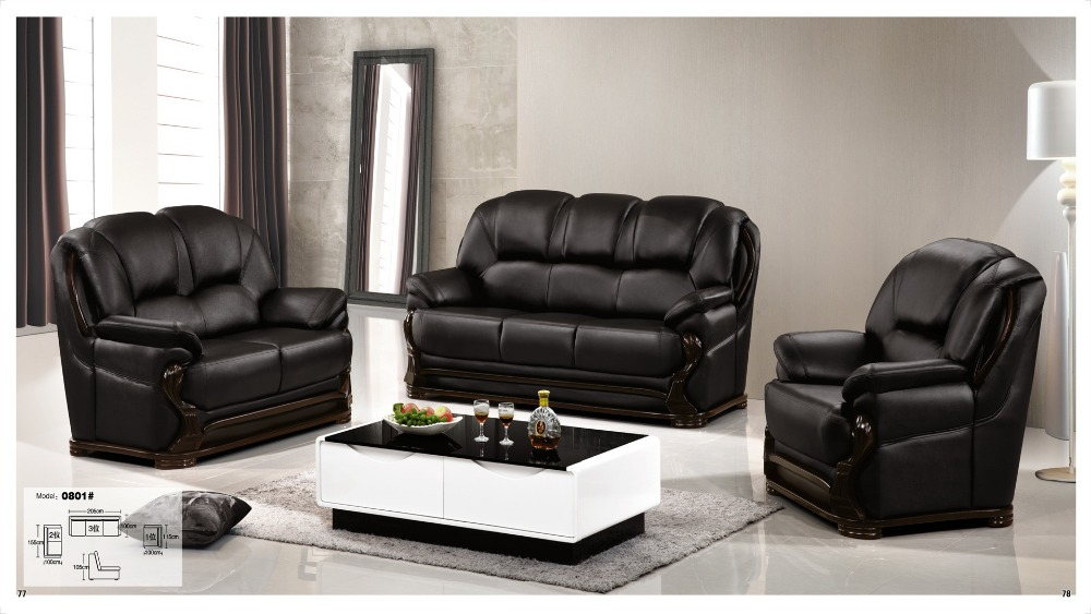 hot sale italy design classic genuine leather sectional