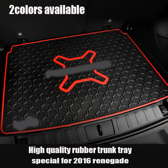 2 colors Rubber Trunk Organizer Tray Mat Slush Floor Mat Liner Mats Carpet Tray Cargo For 2015 2016 Jeep Renegade