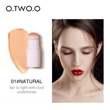 O.TWO Air Cushion Concealer Stick Foundation Makeup Full Cover Contour Face concealer Lasting Hide Blemish Pores Bronzer Stick face full cover contour concealer stick foundation 3 colors moisturizer dark eye circle hide blemish bronzer facial base makeup