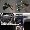 Conjuntos Thehotcakes Car Rear View Back Up Câmera Reversa Para Mercedes Benz E W211 E280 E320 E300 E55 E63 Tela Original Compatível