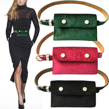 2019 High Quality Waist Bag Women Velour Waist Pack for Women Fashion Retro Velvet Hip Bum Belt Bag Mobile Phone Bag Fanny Pack belt bag canvas large capacity wasit pack high quality waist bag mobile phone pouch fashion fanny pack for women men sling bag