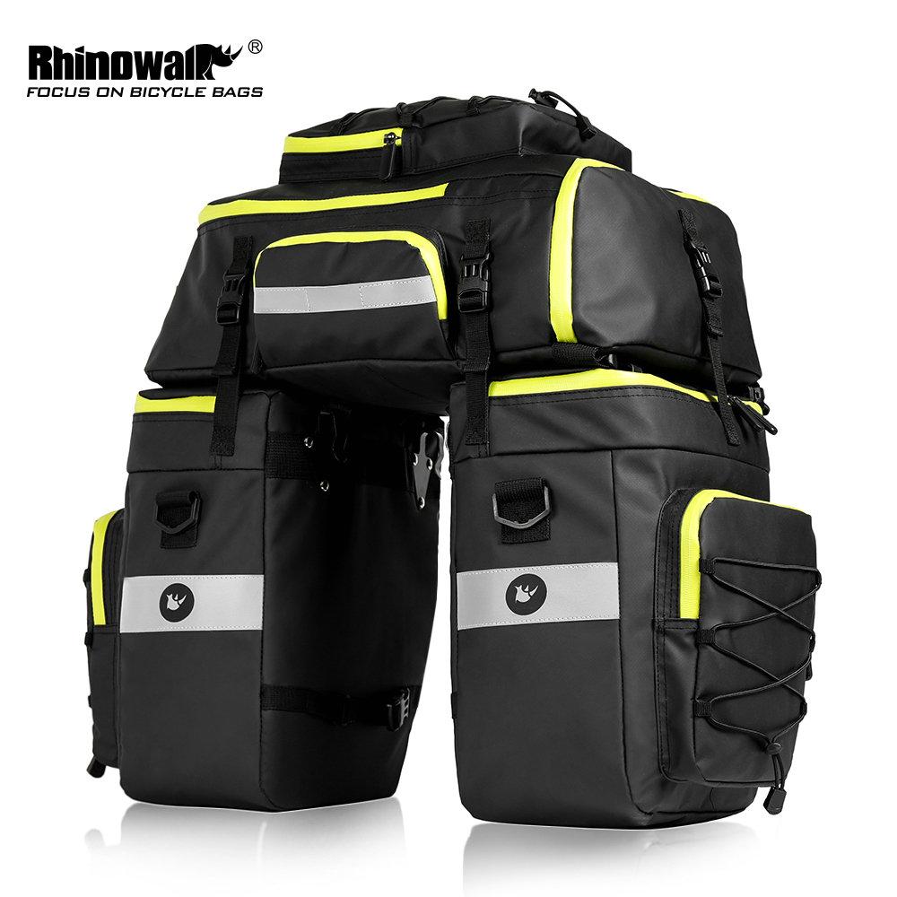 Rhinowalk 75L Mtb Bike Rear Seat Trunk Bag 3 In 1 Multifunctionele Fiets Fietstas Waterdichte Dubbele Side Fietsen Bagage Fietstas
