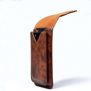 """Image 4 - Uniwersalny telefon komórkowy dla 4.0 """" 6.3"""" duży PU skórzany portfel etui torba zaczep na pasek wiszące pierścień pionowe odwróć etui dla iPhone Galaxy"""
