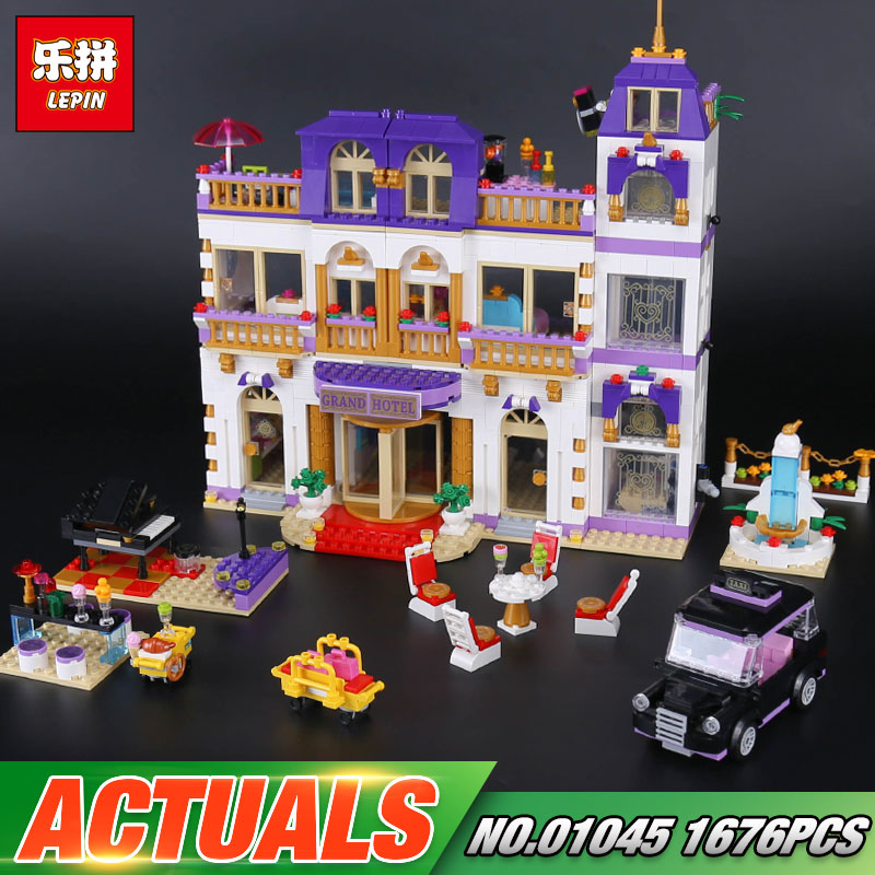 In Stock Lepin 01045 New 1676Pcs Girls Series The Heartlake Grand Hotel Set 41101 Building Blocks Bricks Toys As Gift For Kids new century grand hotel ningbo