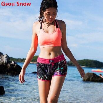 2017 GS Brand swim shorts women's multipurpose summer boardshorts lace-up beach shorts boardshorts surf women swimwear