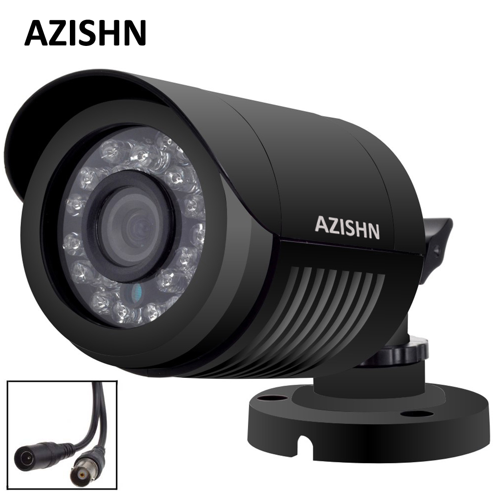 AZISHN AHD Camera 720P/1080P/5MP CCTV Security AHDM AHD-M Camera HD IR-Cut Night vision IP6 outdoor bullet Camera 1080P LENS