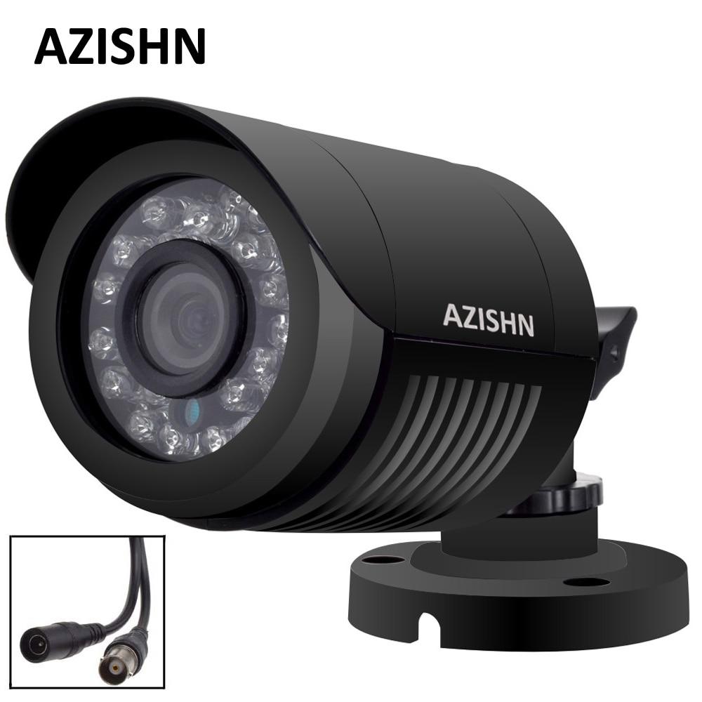 AZISHN AHD Camera 720P/1080P/5MP CCTV Security AHDM AHD-M Camera HD IR-Cut Night vision IP6 outdoor bullet Camera 1080P LENS