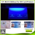 Ю. в. ультра-Фиолетовый синий Лента 1000 оттисков/2 рулоны для Javelin карт-принтер Zebra P330i P430i P310 J310 J330i J420i UV лентой