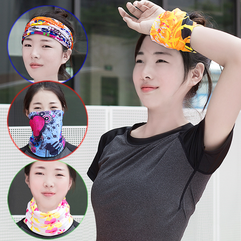 Multifunction Scarf Novelty Bicycle Biker Seamless Bandanas Headwear Magic Headband Neck Tube Face Mask Wrap 10pcs LS21-40