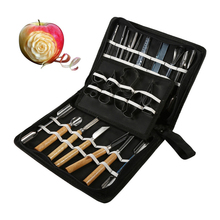 TTLIFE 46Pcs/Set Carving Tools Kit Portable Vegetable Fruit Food Chisel Chrome Steel Food Carving Knife For Kitchen Cutting Tool