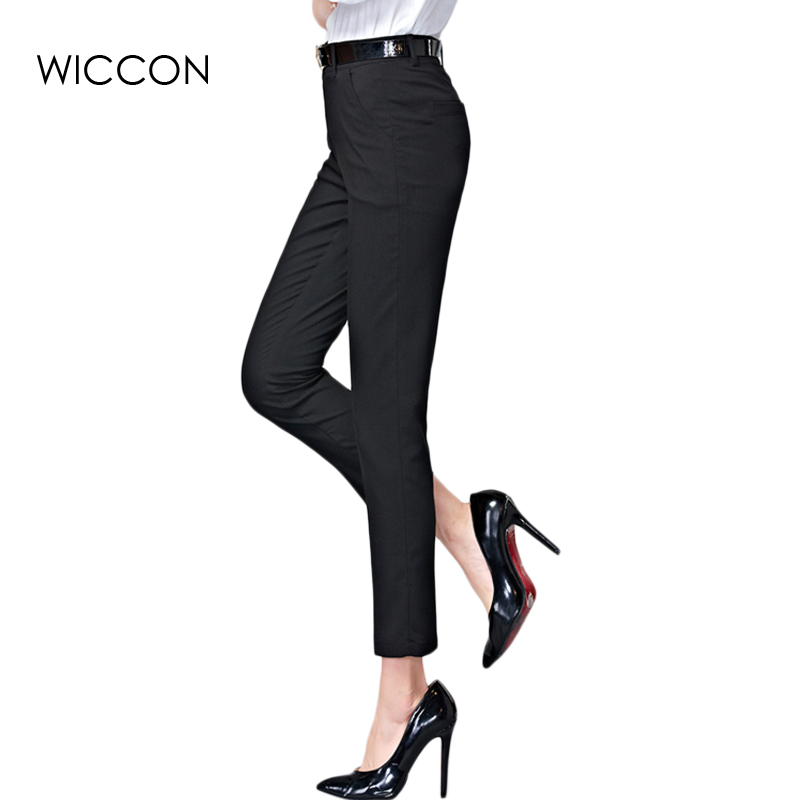 WICCON high waist for women style pants female trousers