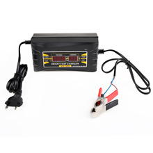 Newest 110V/220V Full Automatic Electric Car Intelligent Pulse Repair Type 12V 6A Car Motorcycle LCD Display Battery Charger