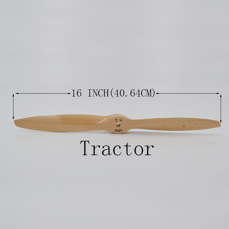 Adult HOBBY Piese 16 * 8 INCH Tractor lemn Lemn de fag CW Propulsor - Jucării cu telecomandă