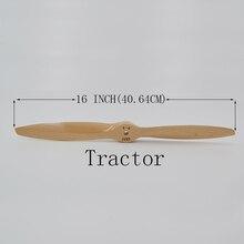 Felnőtt HOBBY Alkatrészek 16 * 8 INCH Traktor fa Fa bükkfa CW propeller Prop propeller Benzin RC Fixed Wing Airplane