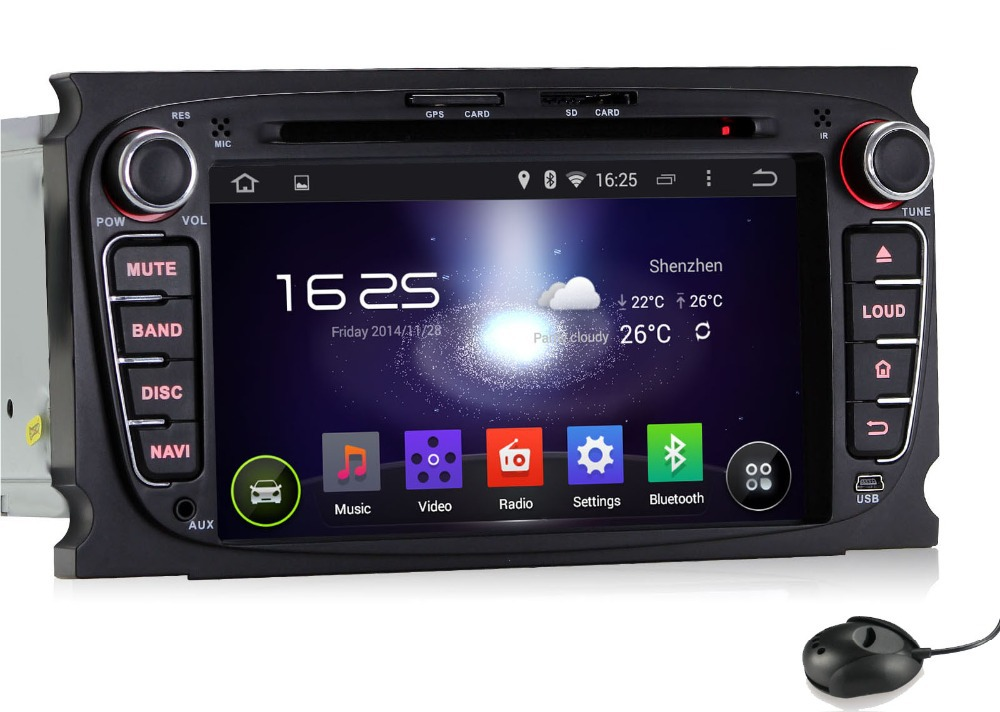 1024 600 Android 5 1 HD 2 din 7 Car dvd gps for Ford Mondeo Tourneo