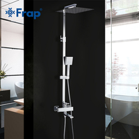 Frap Shower Faucets New Bath Shower Mixer Bathroom Shower Faucet Taps with Rain Shower Head Set Waterfall Faucet Tapware System